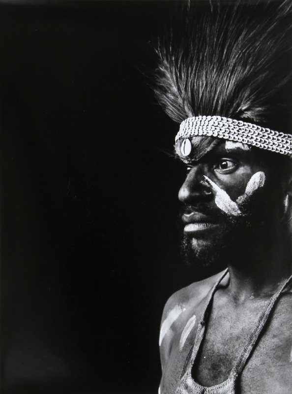 Gerald Forster, Warrior in Papua, New Guinea, Gelatin Siver Print Photograph