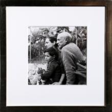 Boris Lipnitzki, Picasso, Francoise Gilot and son Claude, Gelatin Silver Print Photograph