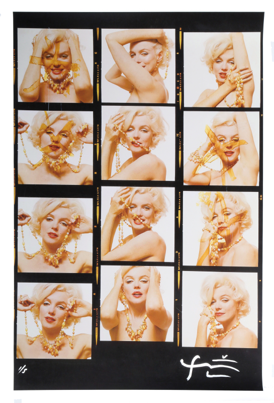 Bert Stern, Marilyn Monroe with Jewels (Contact Sheet) from The Last Sitting, Digital Print