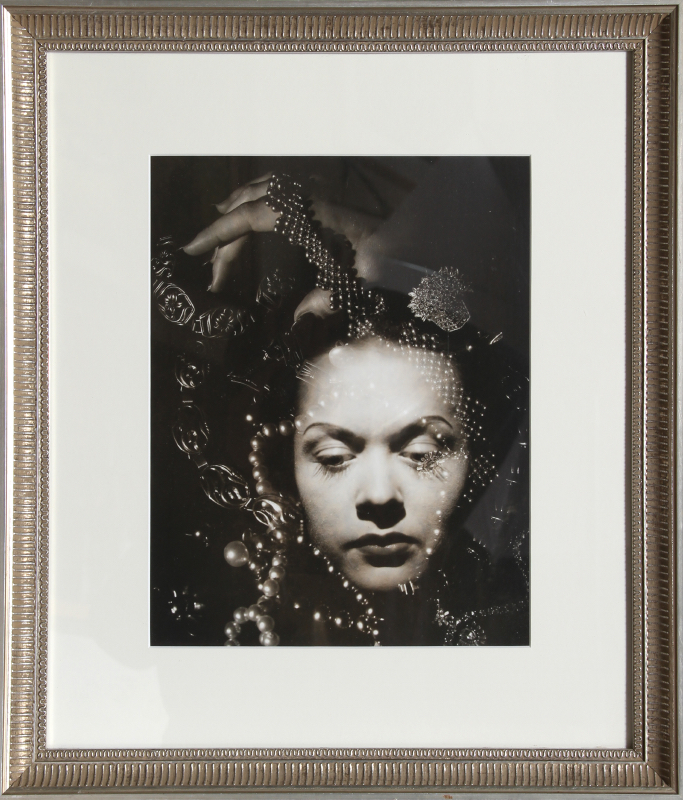 John D. Walker, Woman with Pearls, Gelatin Silver Print Photograph