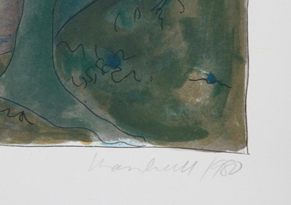 DANIEL MARSHALL, THE DUCK POND - THE EVENING, LITHOGRAPH
