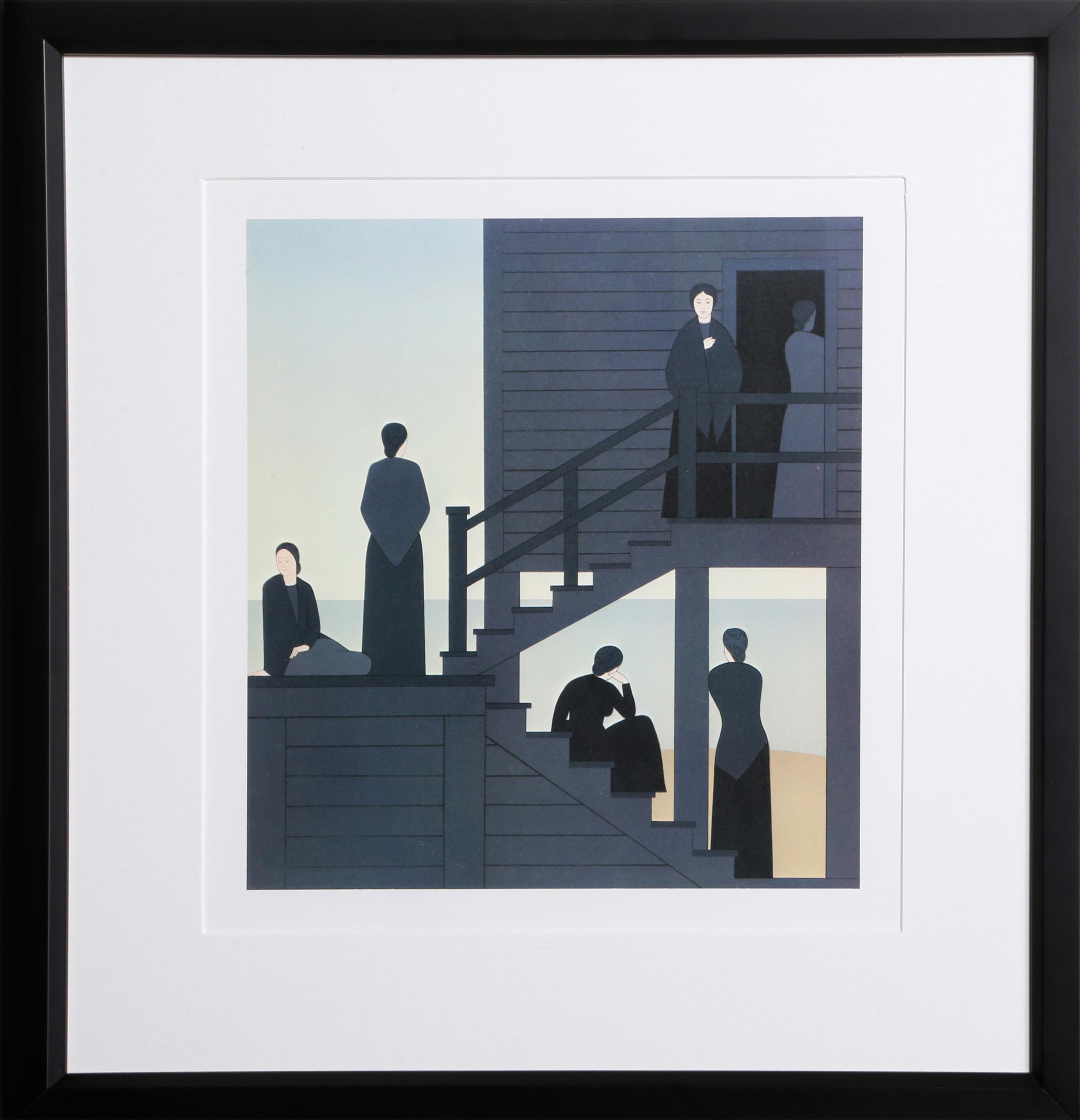 WILL BARNET, WAITING FROM THE KENT BICENTENNIAL PORTFOLIO, OFFSET LITHOGRAPH (UNSIGNED)