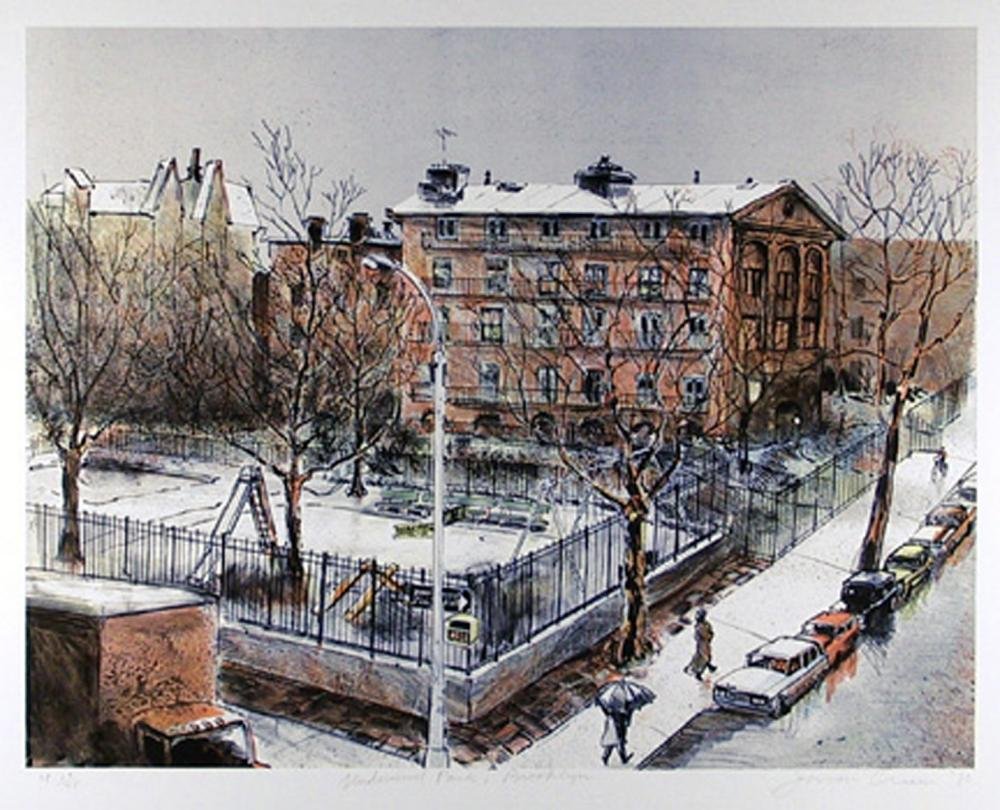 JASON CRUM, UNDERWOOD PARK, LITHOGRAPH