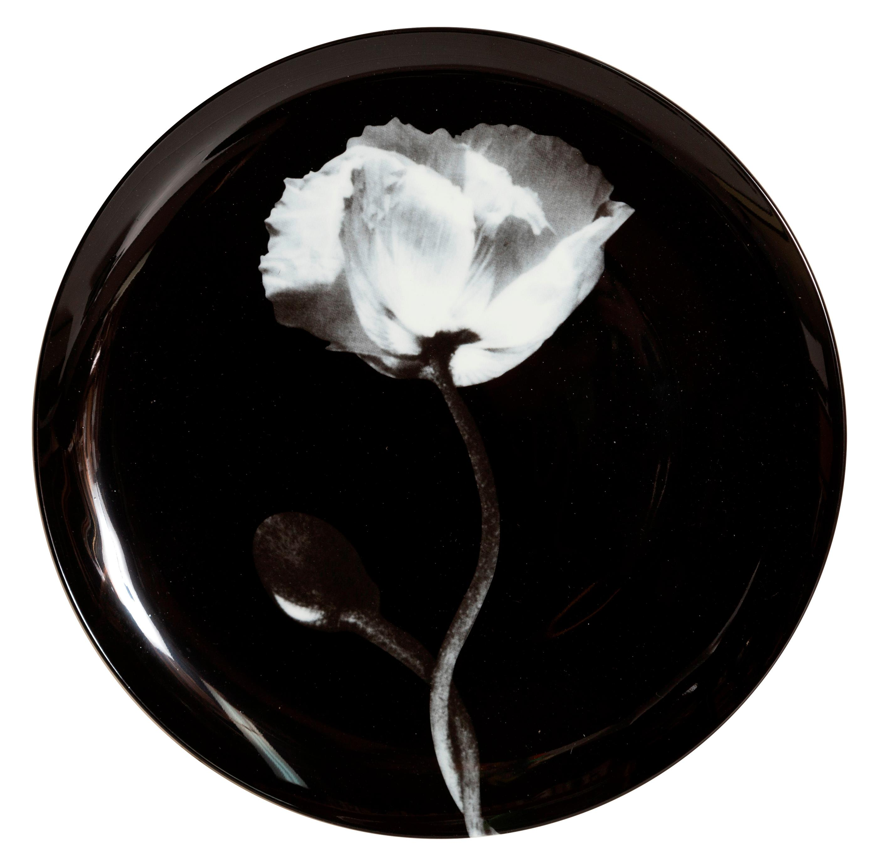 ROBERT MAPPLETHORPE, POPPY, PORCELAIN PLATE