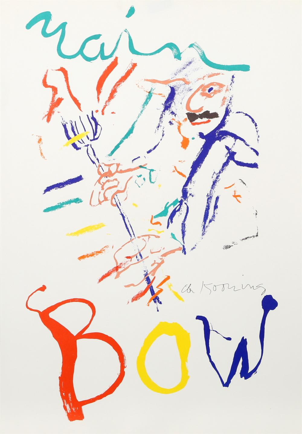 WILLEM DE KOONING, RAINBOW: THELONIUS MONK, DEVIL AT THE KEYBOARD, LITHOGRAPH ON THIN VELIN