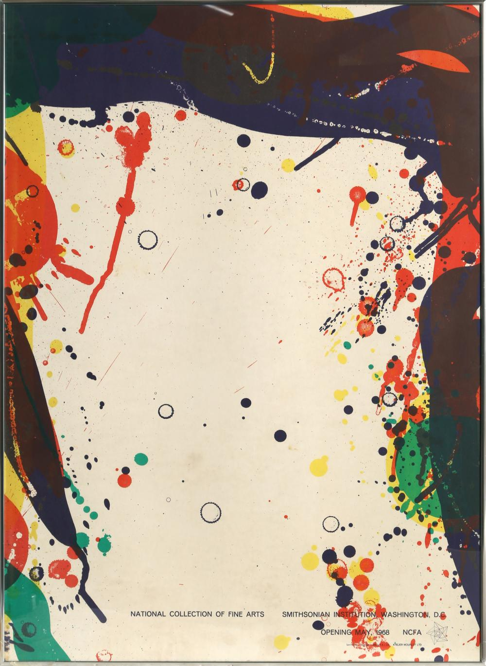 SAM FRANCIS, SMITHSONIAN POSTER, OFFSET LITHOGRAPH