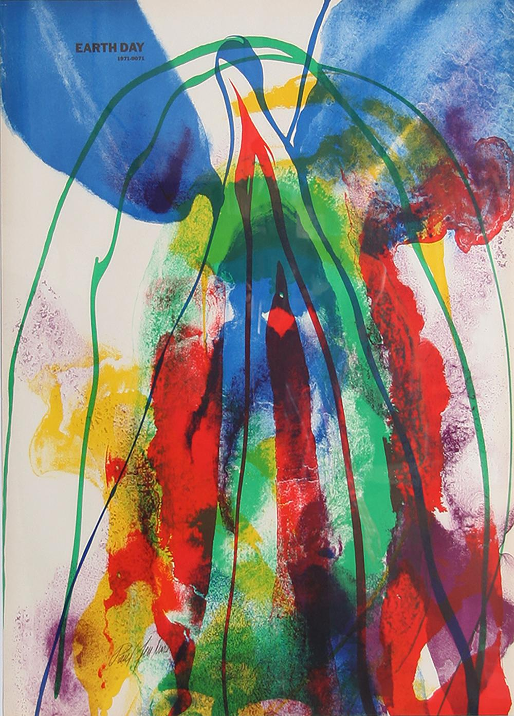 PAUL JENKINS, EARTH DAY, LITHOGRAPH