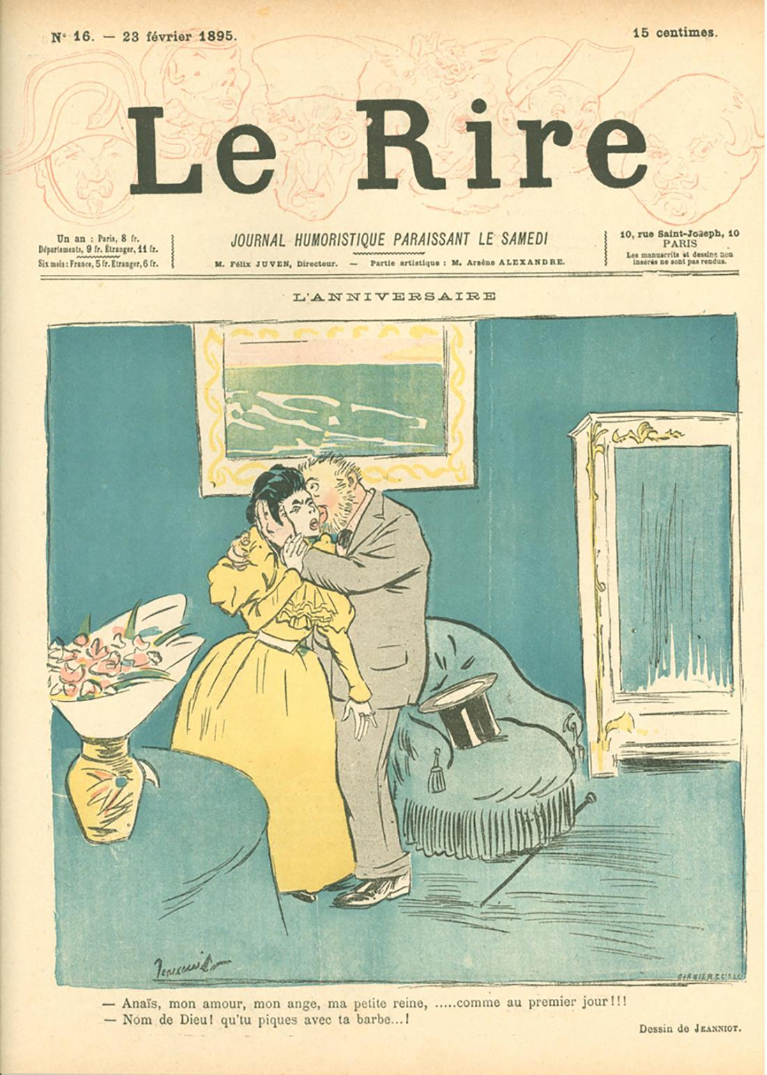 PIERRE-GEORGES JEANNIOT, LE RIRE, NO. 16, 10 PAGE NEWSPRINT MAGAZINE