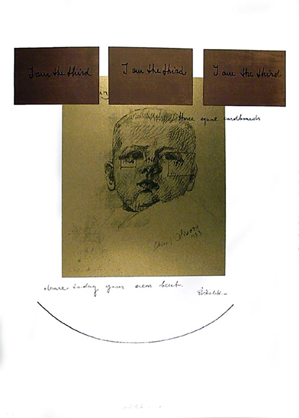 MICHELANGELO PISTOLETTO, NO. 1, SILKSCREEN