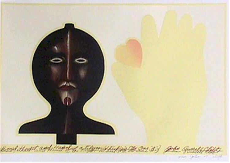John Russell Clift, Head, heart, and hand of a Flyer, Lithograph