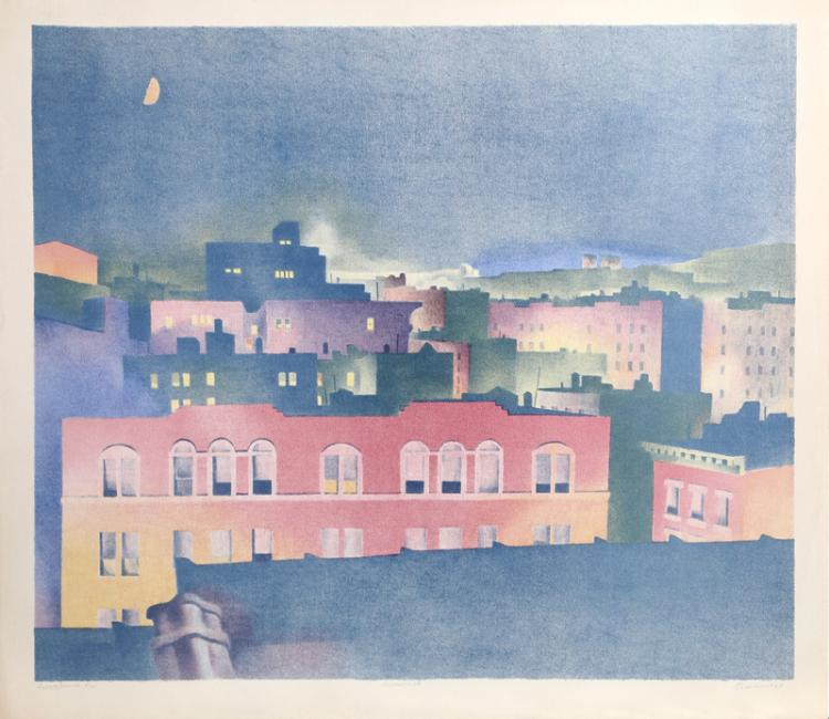 William Behnken, Moon, Lithograph