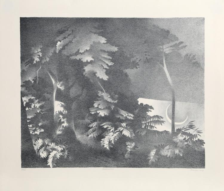 William Behnken, Moonwatch, Lithograph