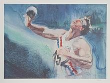 Robert Peak, Shotput from the Visions of Gold Olympic Portfolio, Lithograph