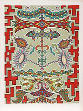Edouard Dermit, Flowers on Pattern, Silkscreen