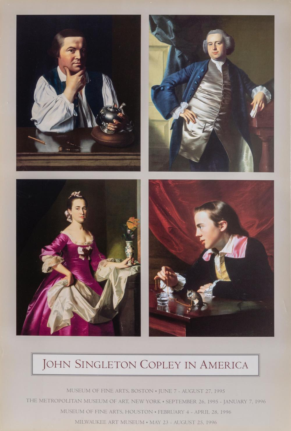 Lot 544: William Copley, Revere and Three Portraits, Poster on foamcore