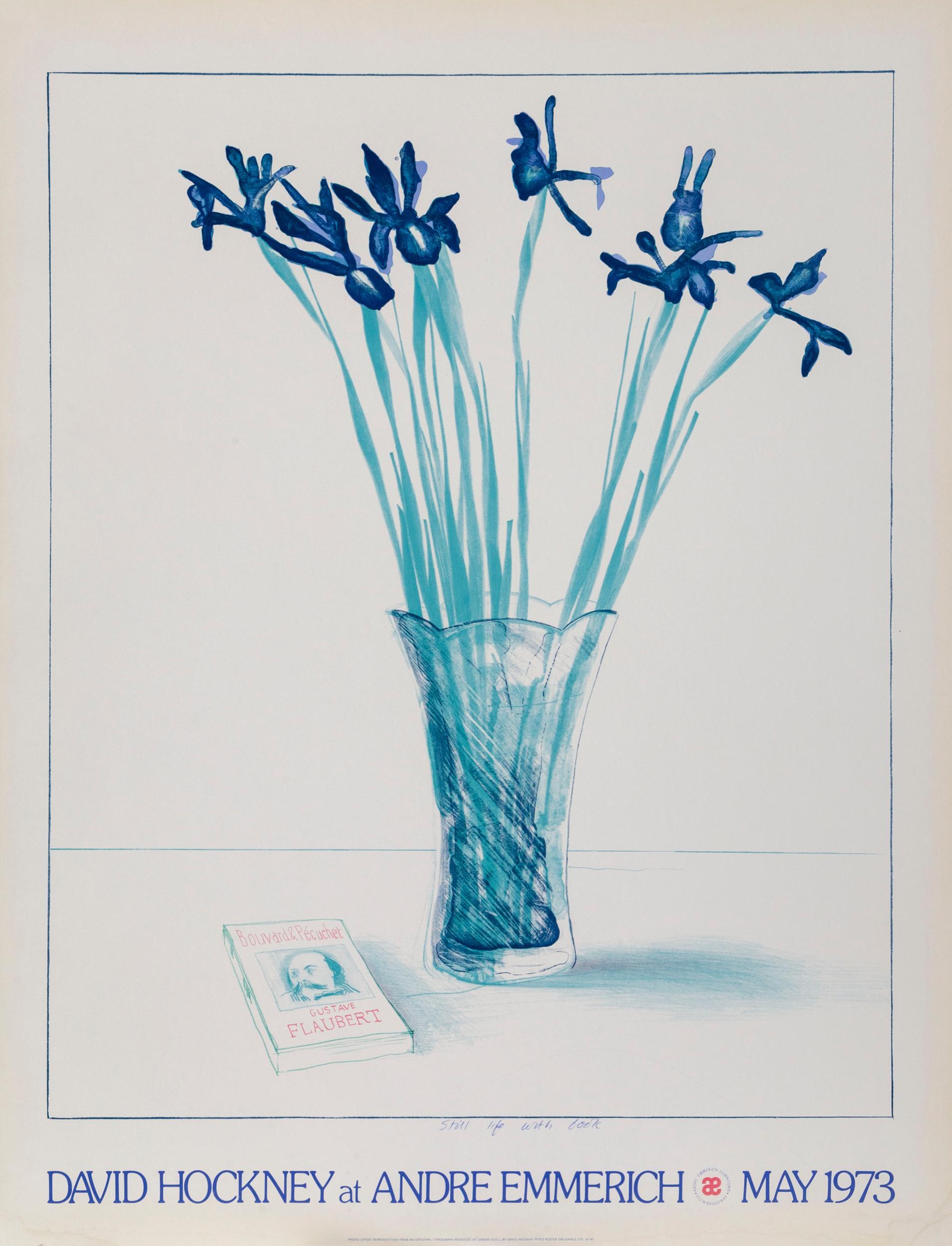David Hockney, Still Life with Vase, Poster