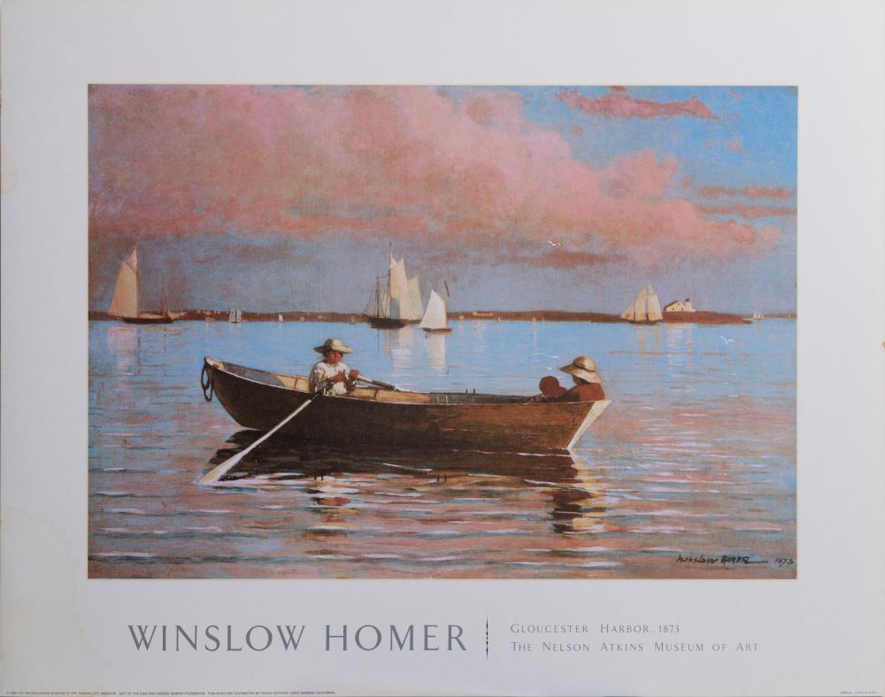 Winslow Homer, Gloucester Harbor, Poster on board
