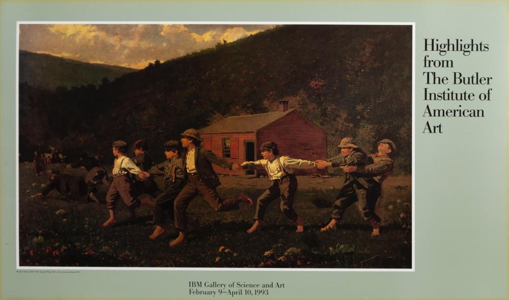 Winslow Homer, Snap the Whip, Poster on board