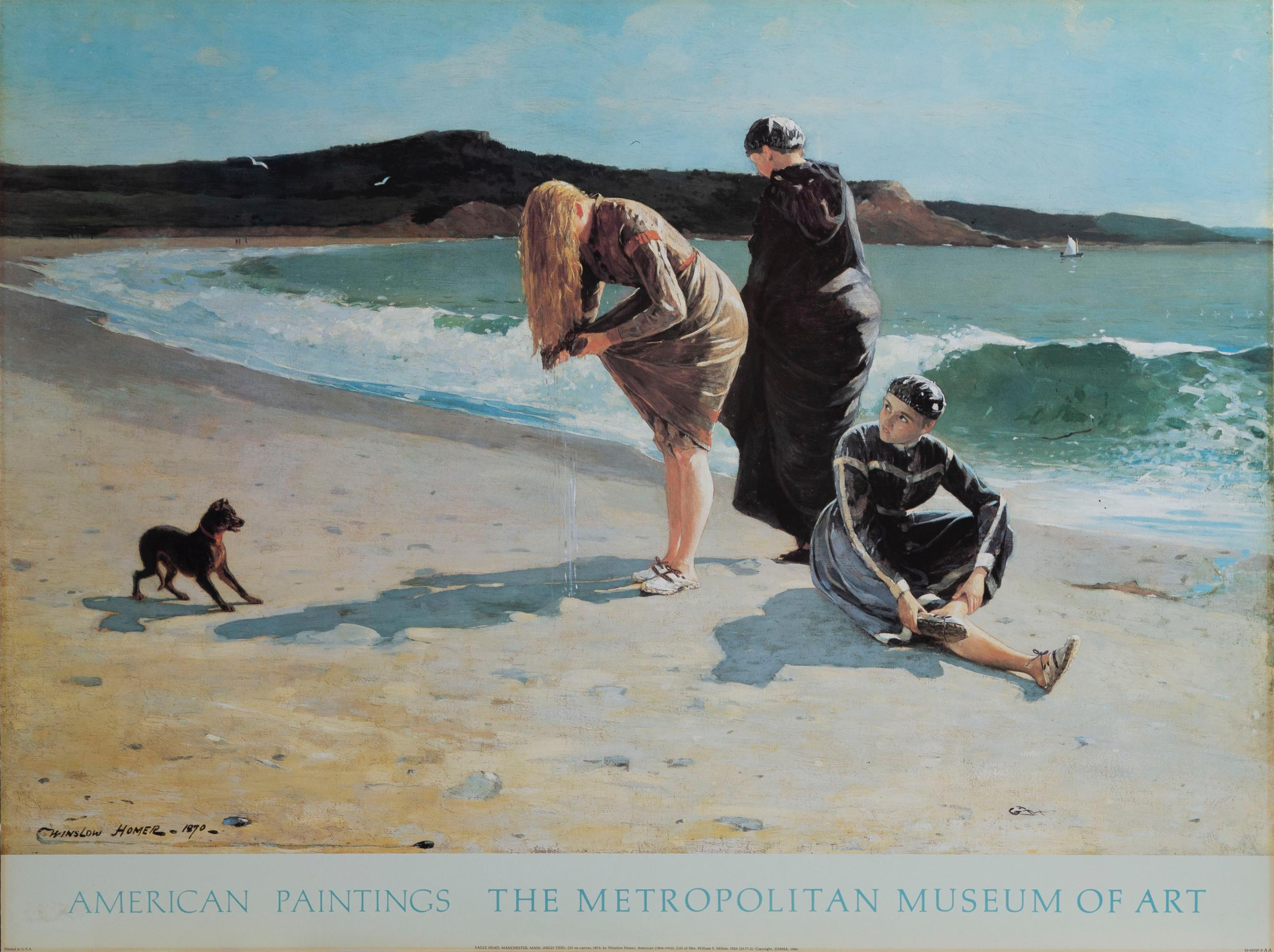 Winslow Homer, Eagle Head Manchester, Massachusetts, High Tide, Poster on board