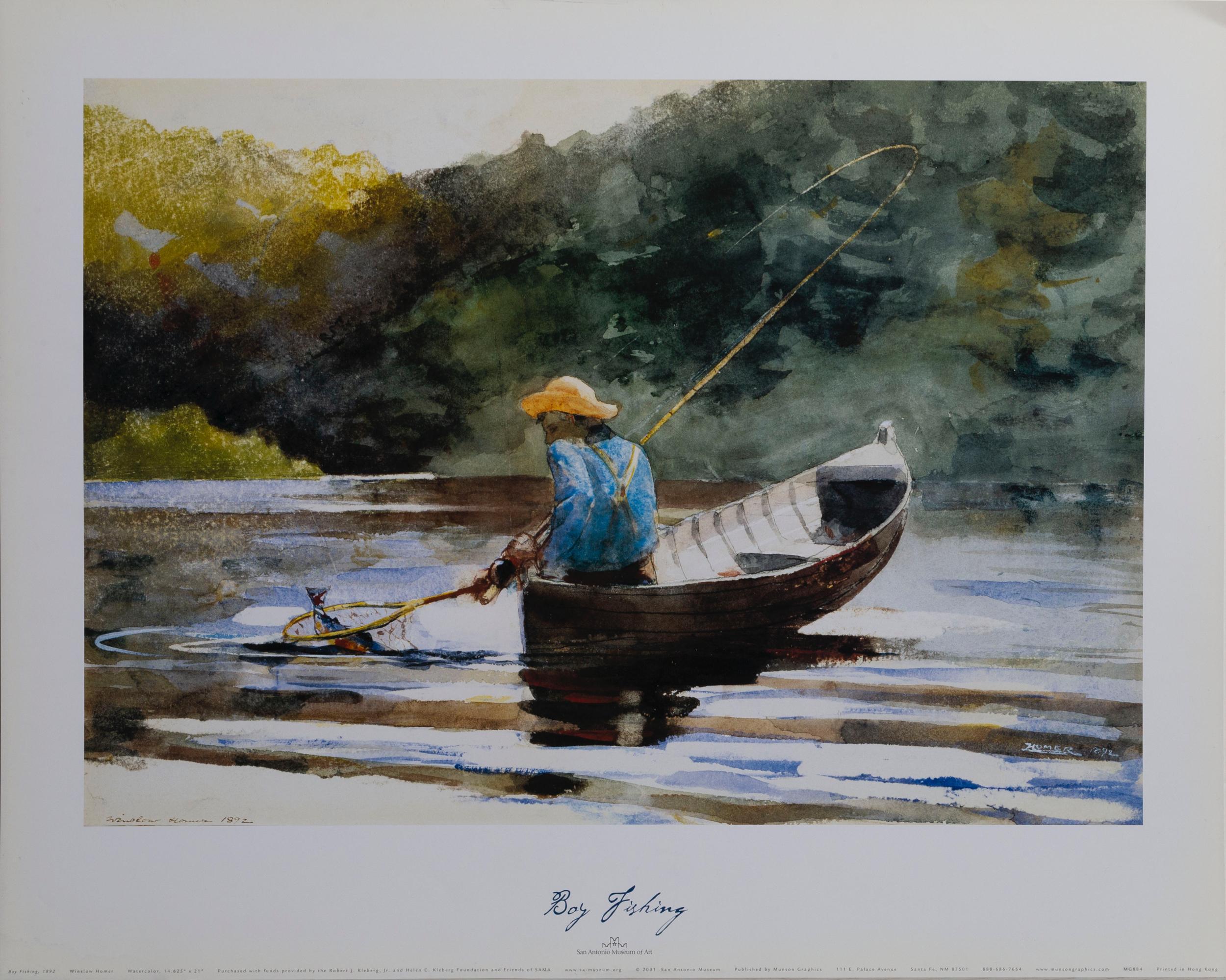 Winslow Homer, Boy Fishing, Poster