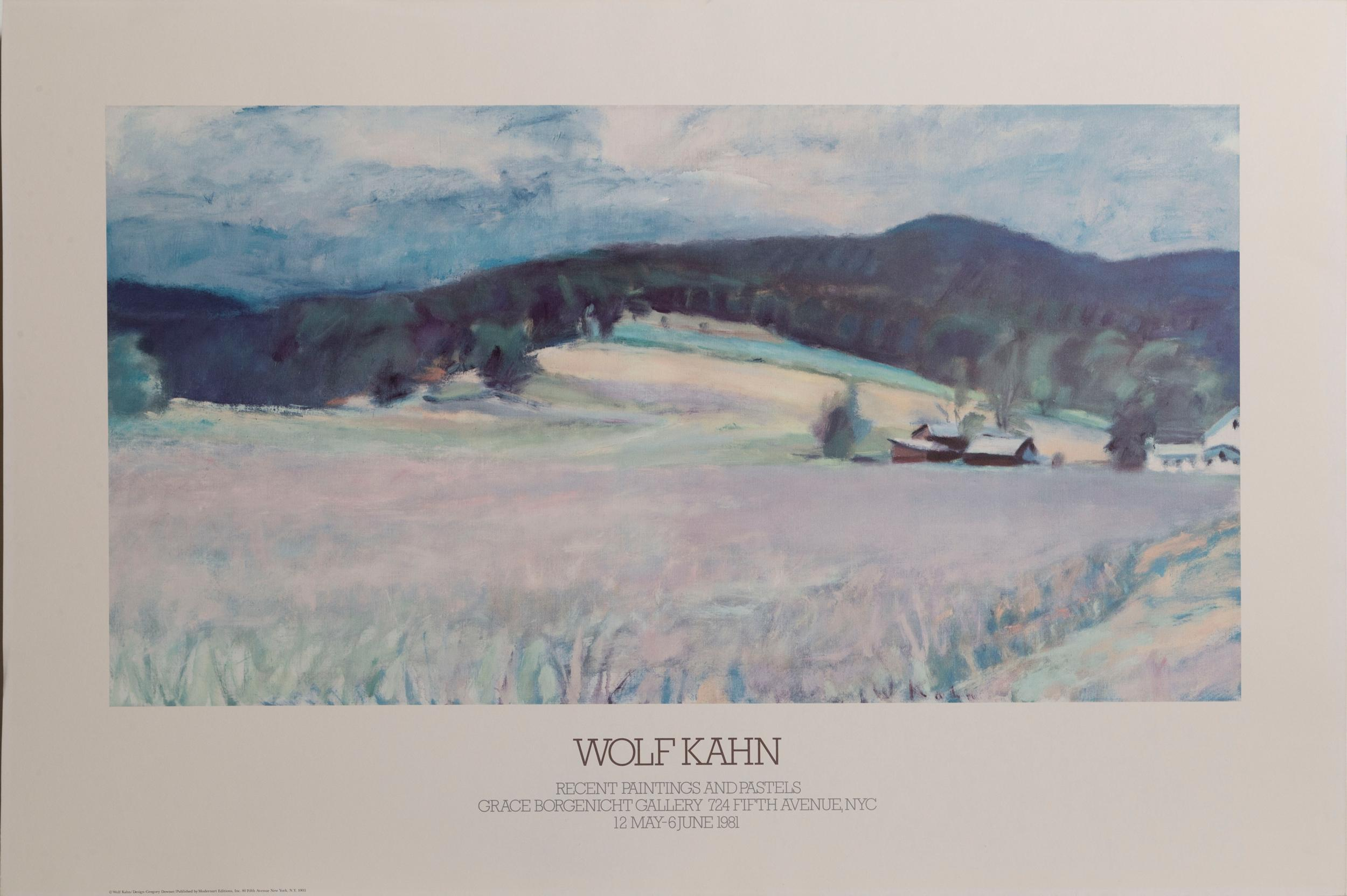Wolf Kahn, Recent Paintings and Pastels, Poster