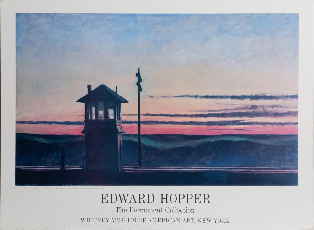 Edward Hopper, Railroad Sunset, Poster on board