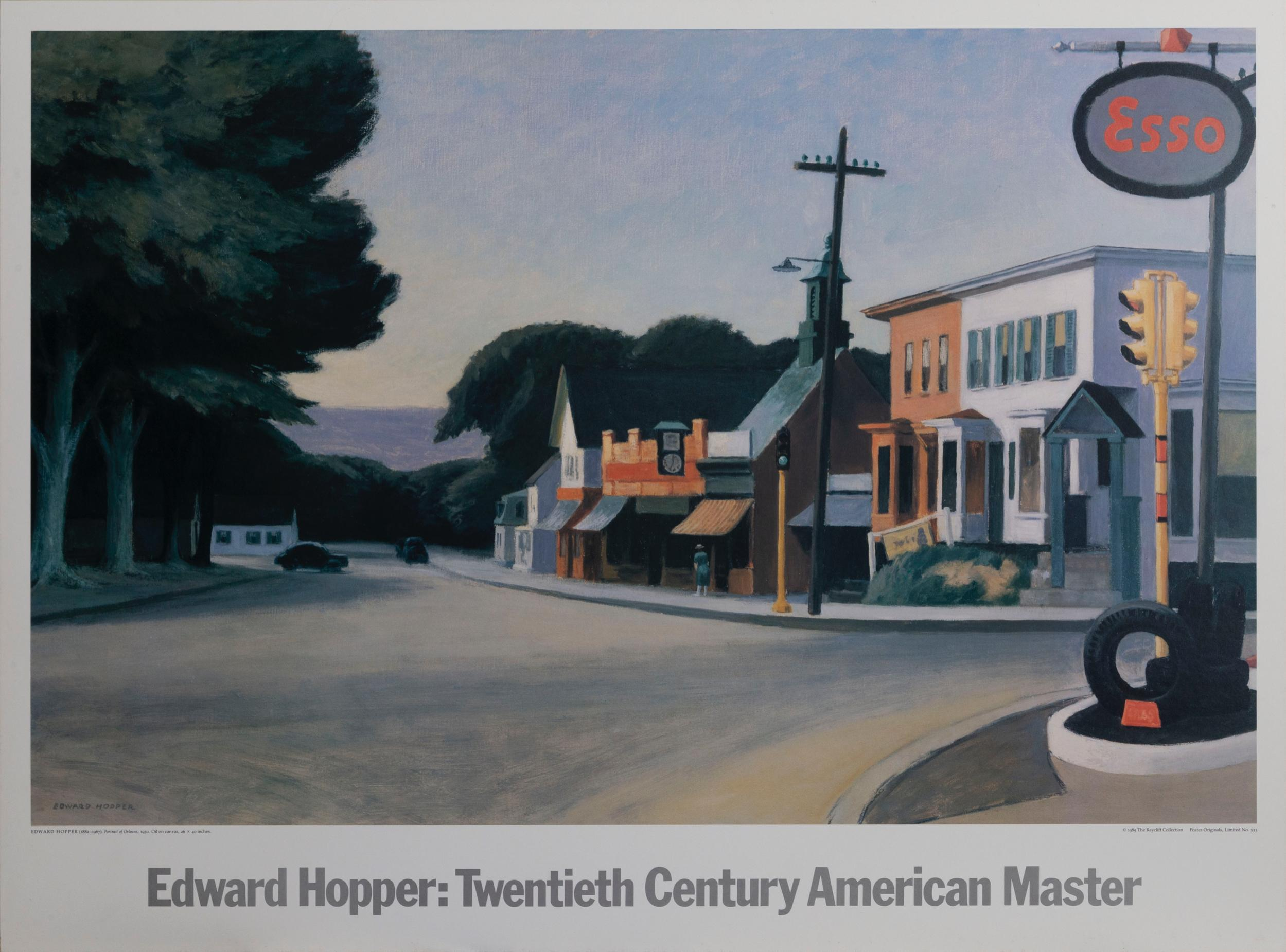 Edward Hopper, Portrait of Orleans, Poster on board