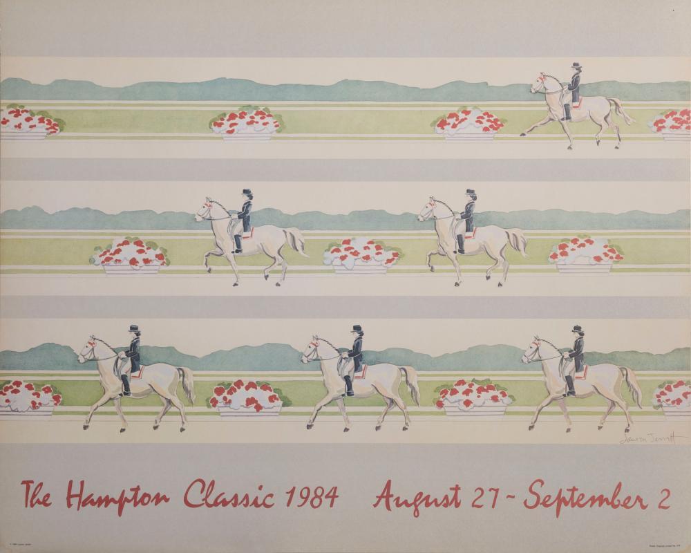 Lauren Jarrett, Hampton Classic 1984, Poster on board
