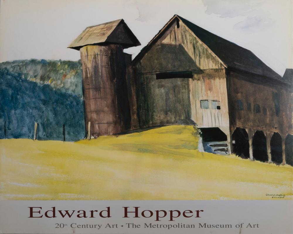 Edward Hopper, Vermont, Poster on foamcore
