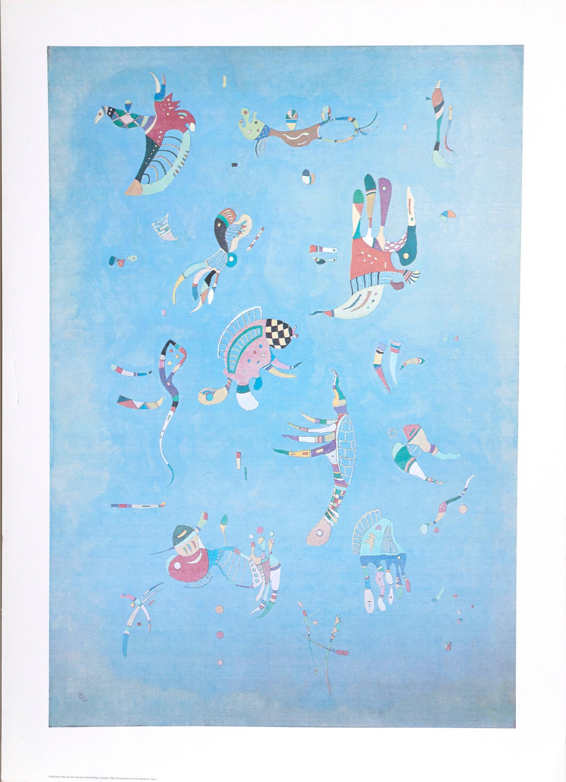 Wassily Kandinsky, Sky Blue, Poster on board