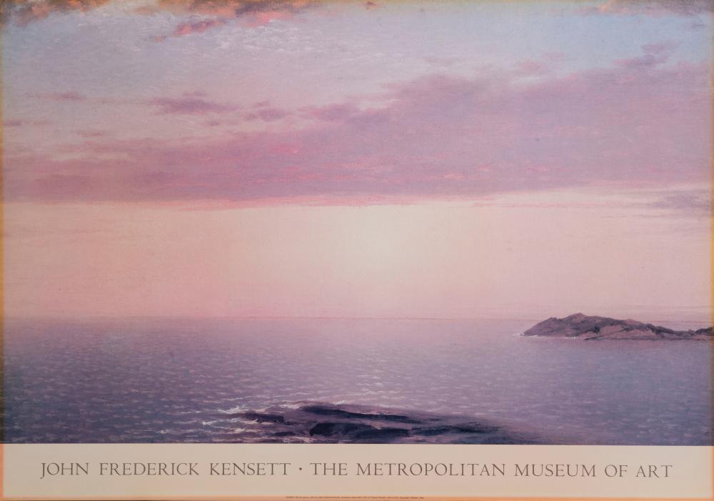 John Kensett, Sunset, Poster on board