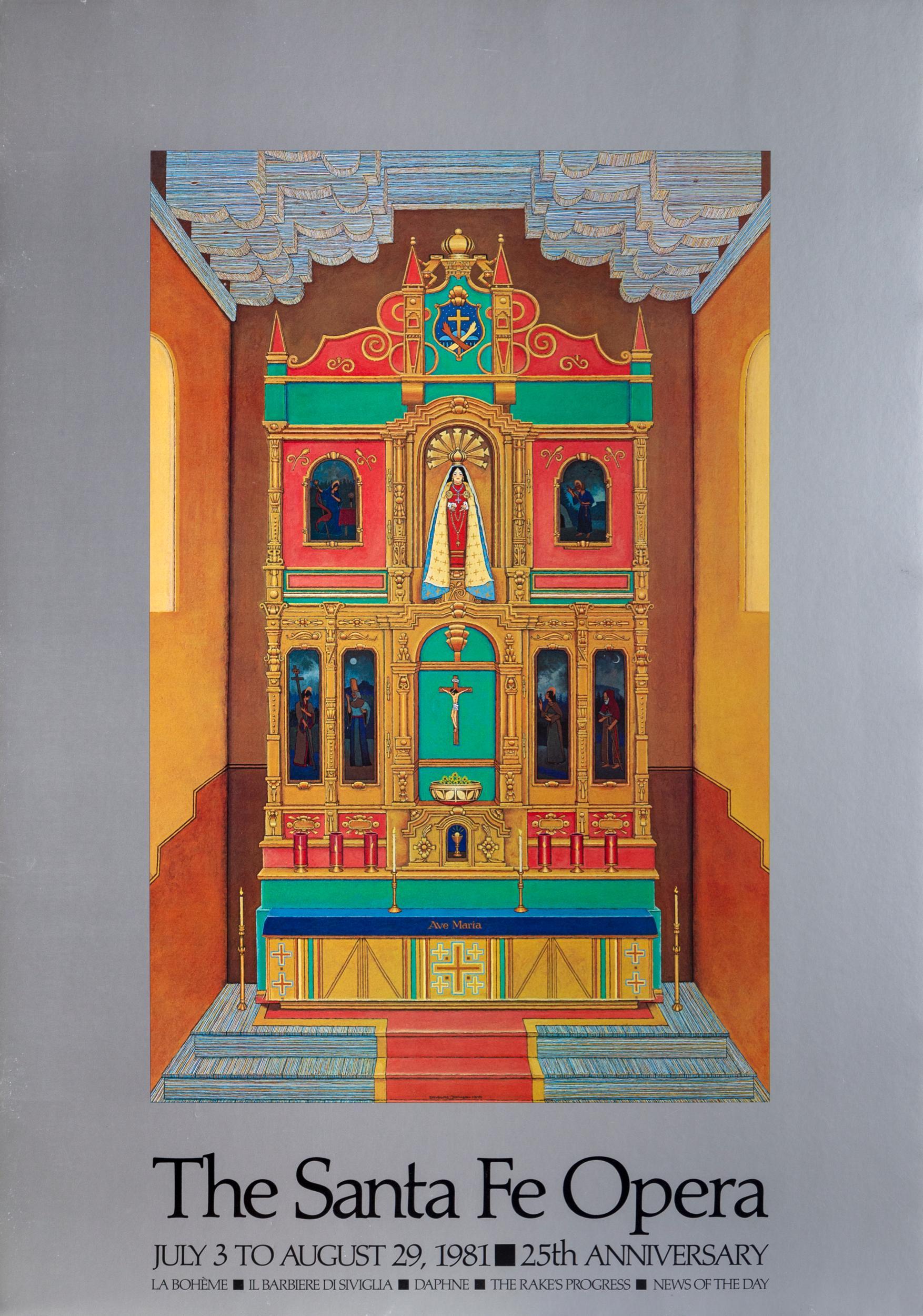 Douglas Johnson, Santa Fe Opera, Poster on foamcore