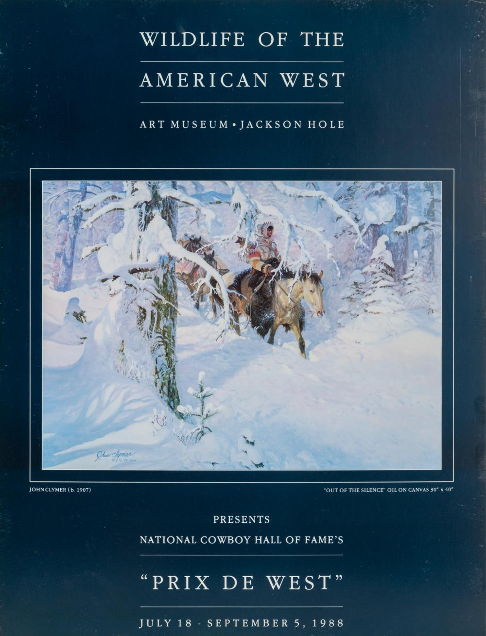 John Clymer, Wildlife of the American West - Out of the Silence, Poster mounted on board
