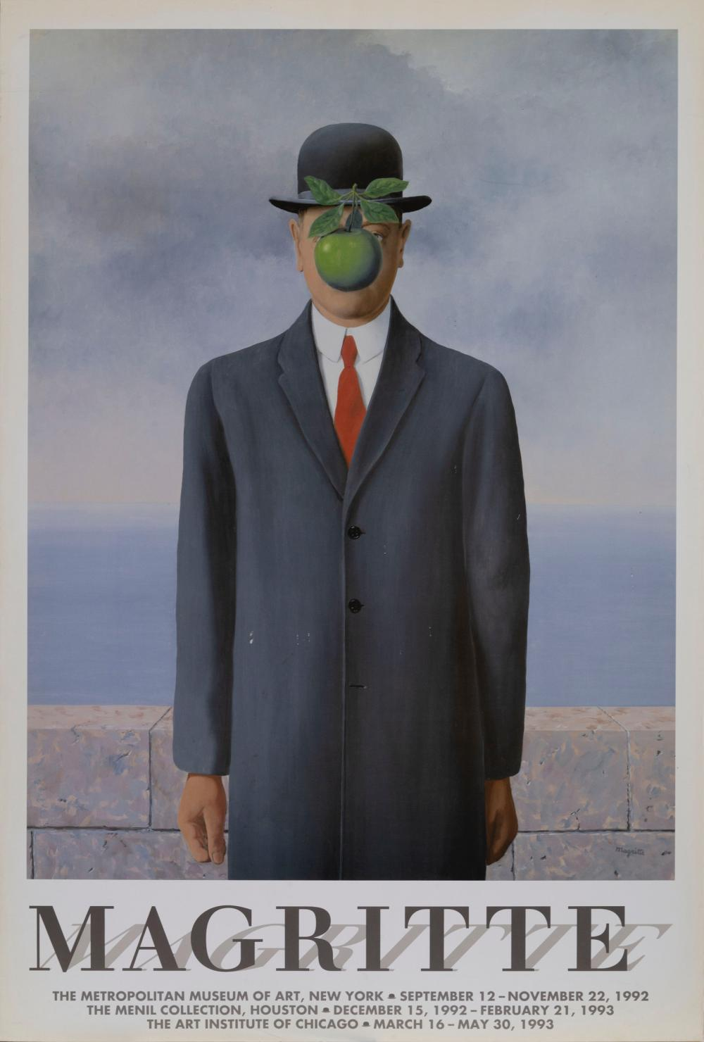 Rene Magritte, The Son of Man, Poster on foamcore