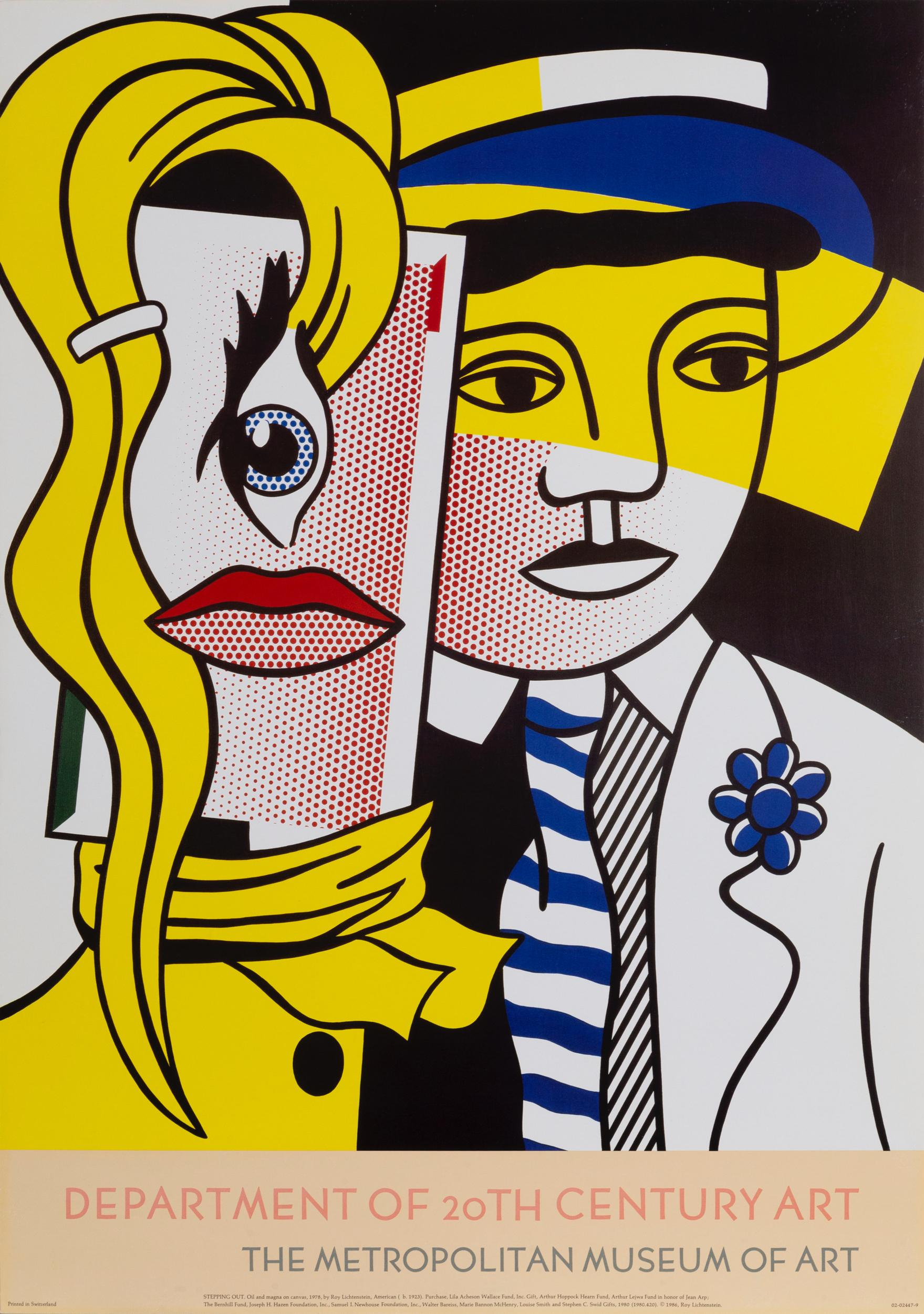 Roy Lichtenstein, Stepping Out, Poster on foamcore