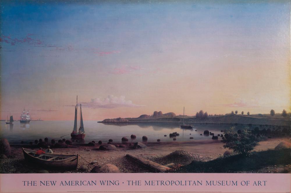 Fitz Henry Lane, Stage Fort Across Gloucester Harbor, Poster on board