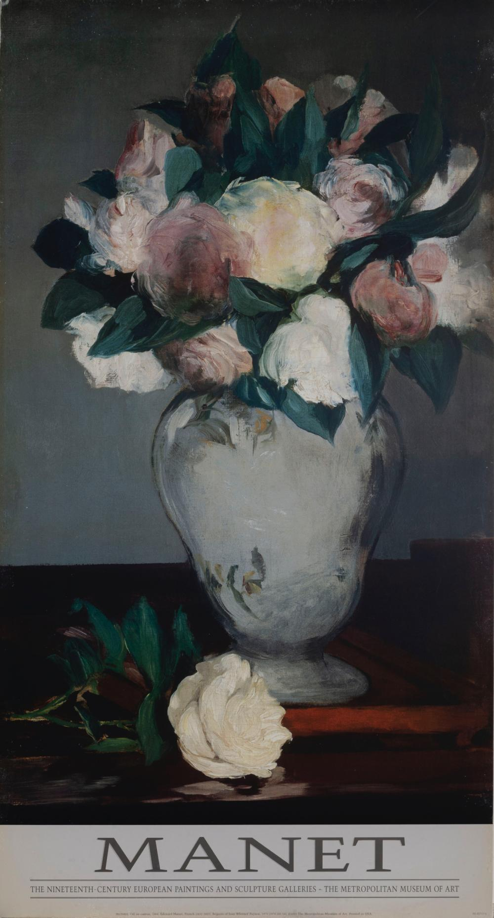 Edouard Manet, Peonies, Poster on foamcore