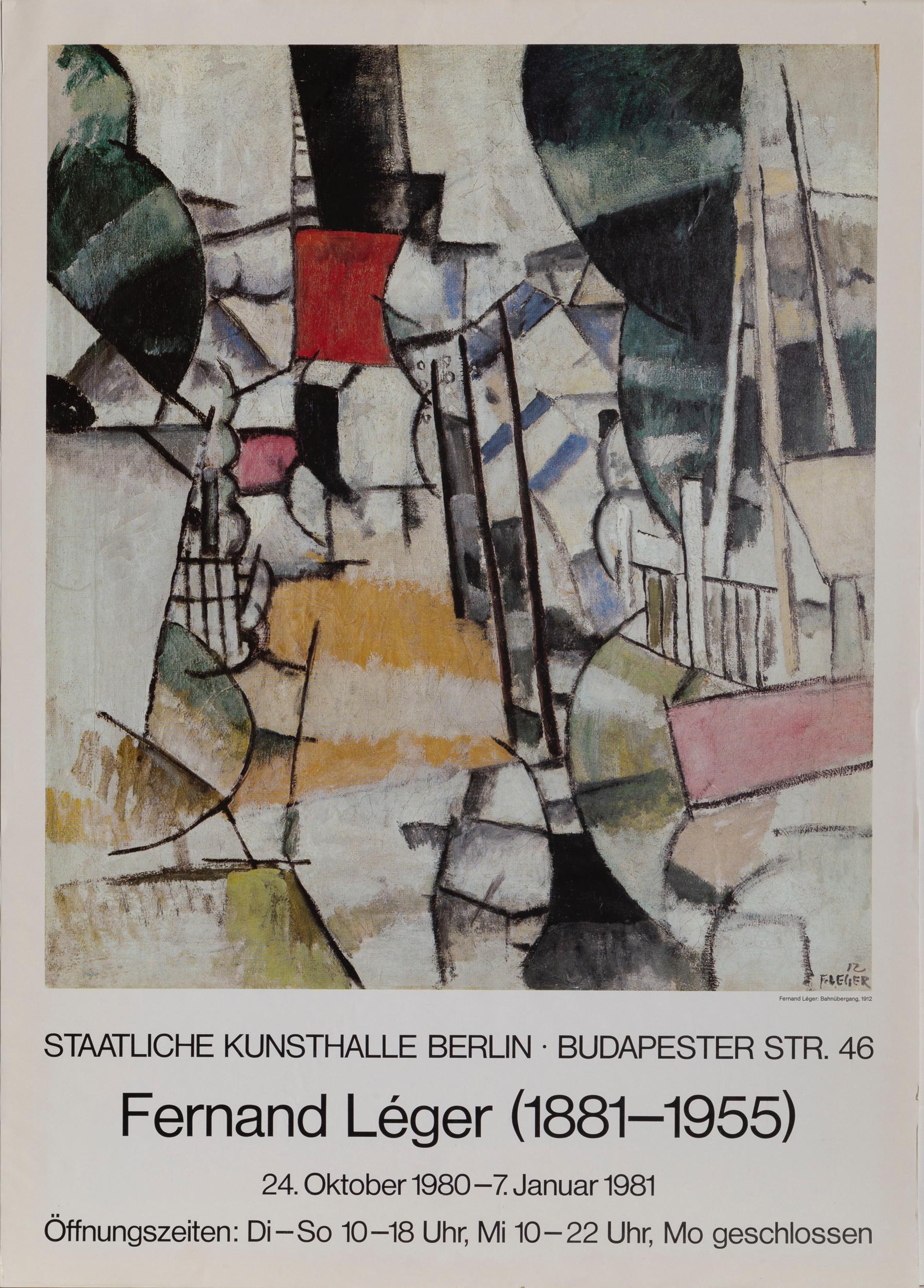Fernand Leger, Bahnubergang, Poster