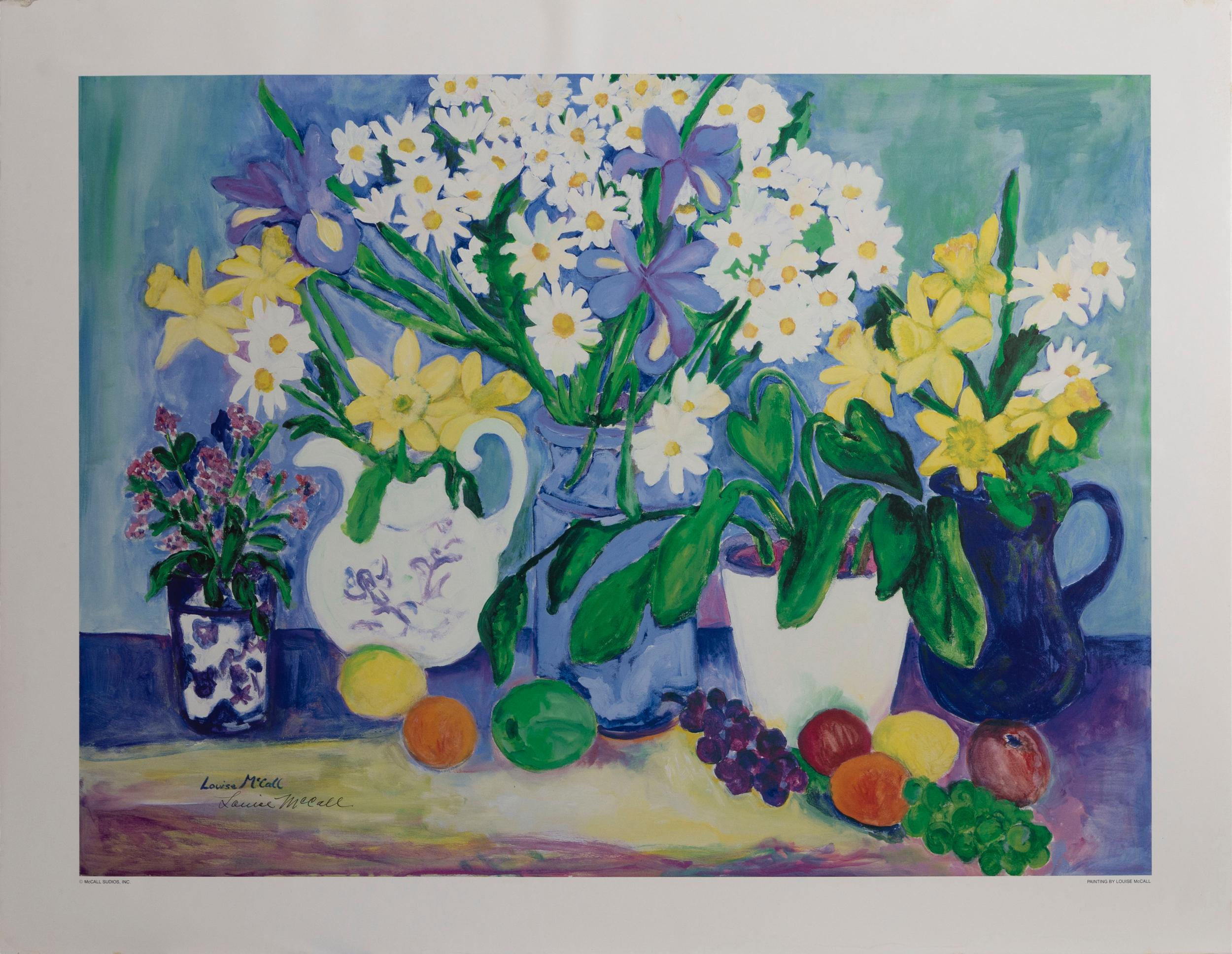 Louise McCall, Still Life, Poster on foamcore, signed in pen