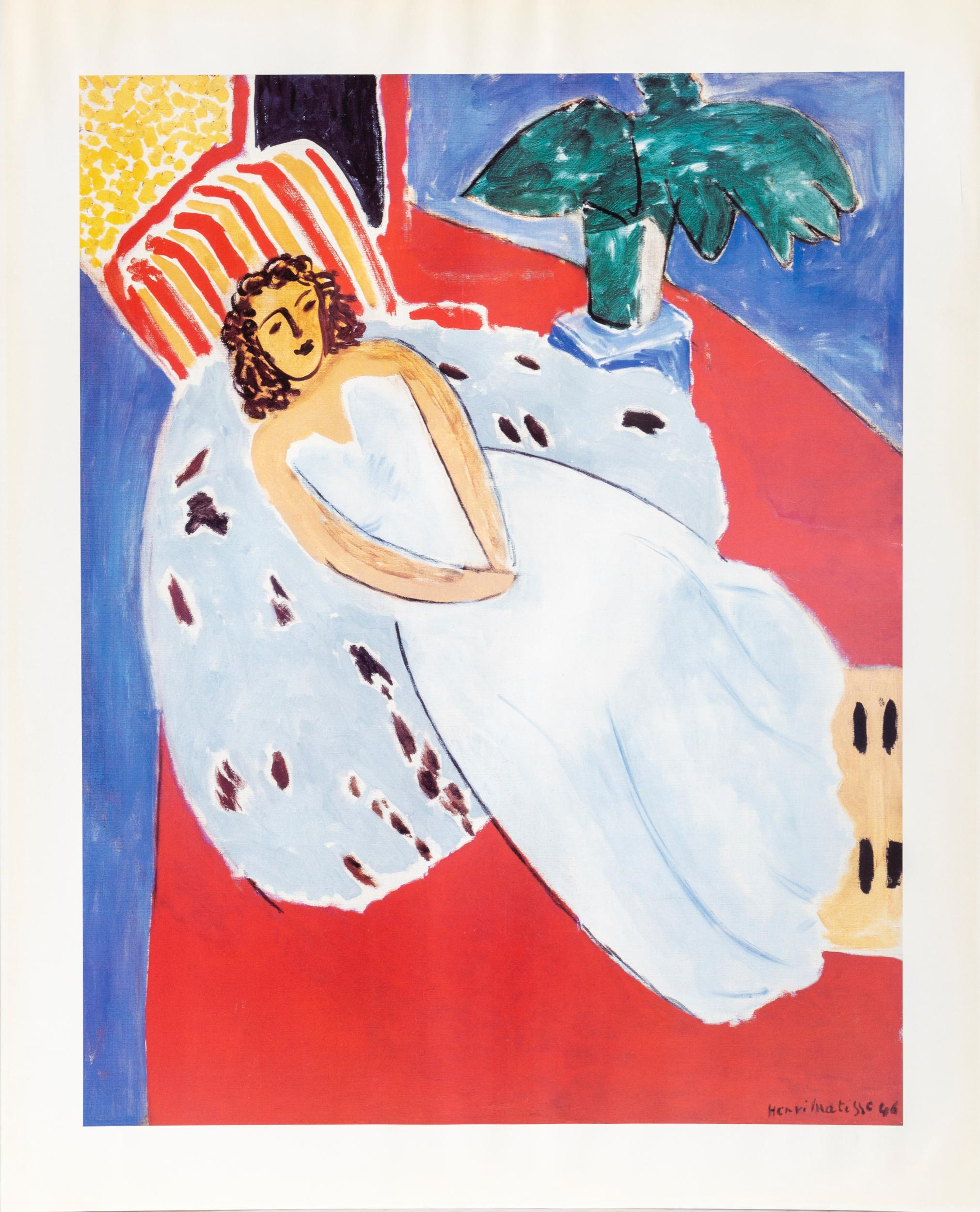 Henri Matisse, Woman Reclining in White Dres, Poster