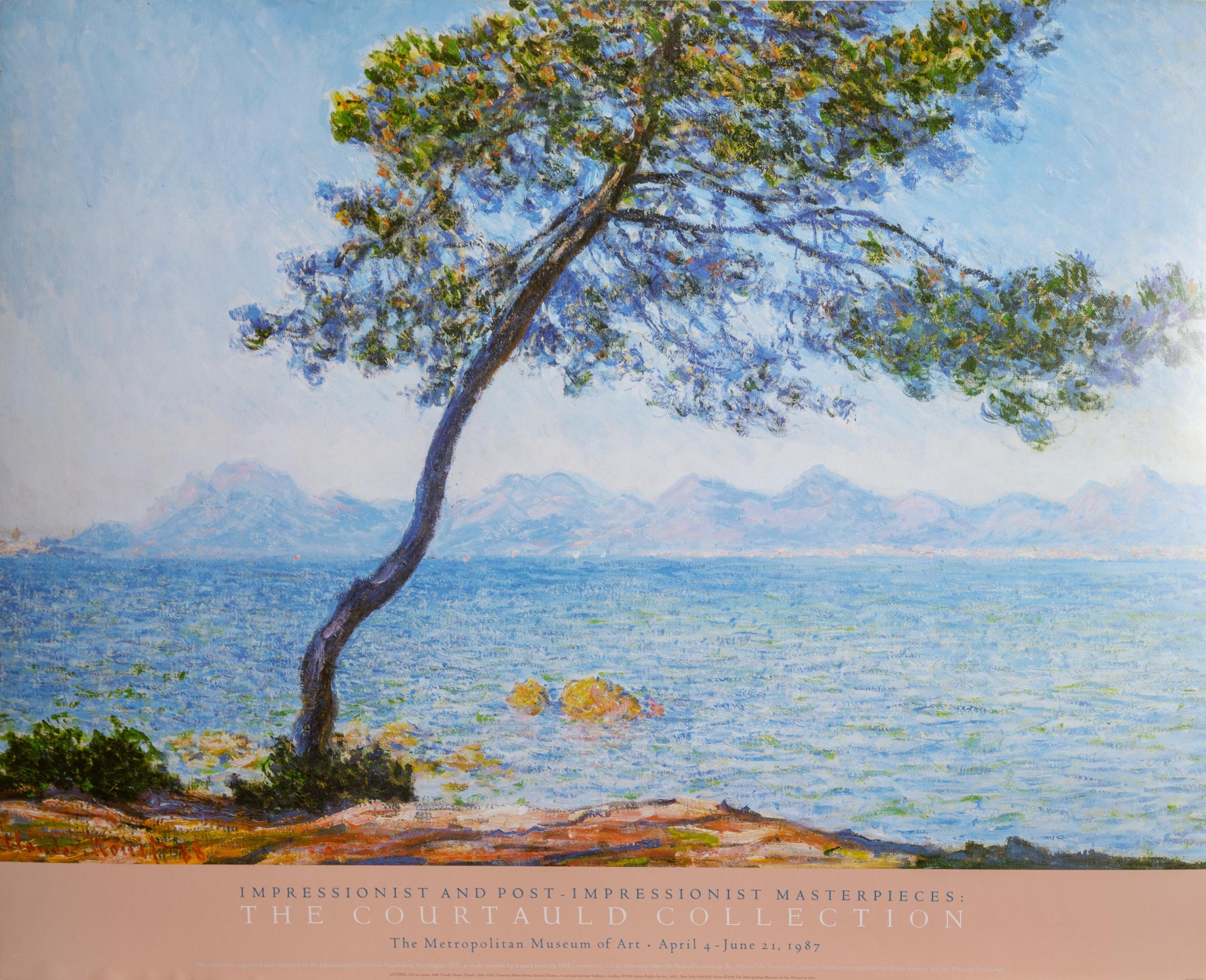 Claude Monet, The Courtald Collection - Antibes, Poster on foamcore