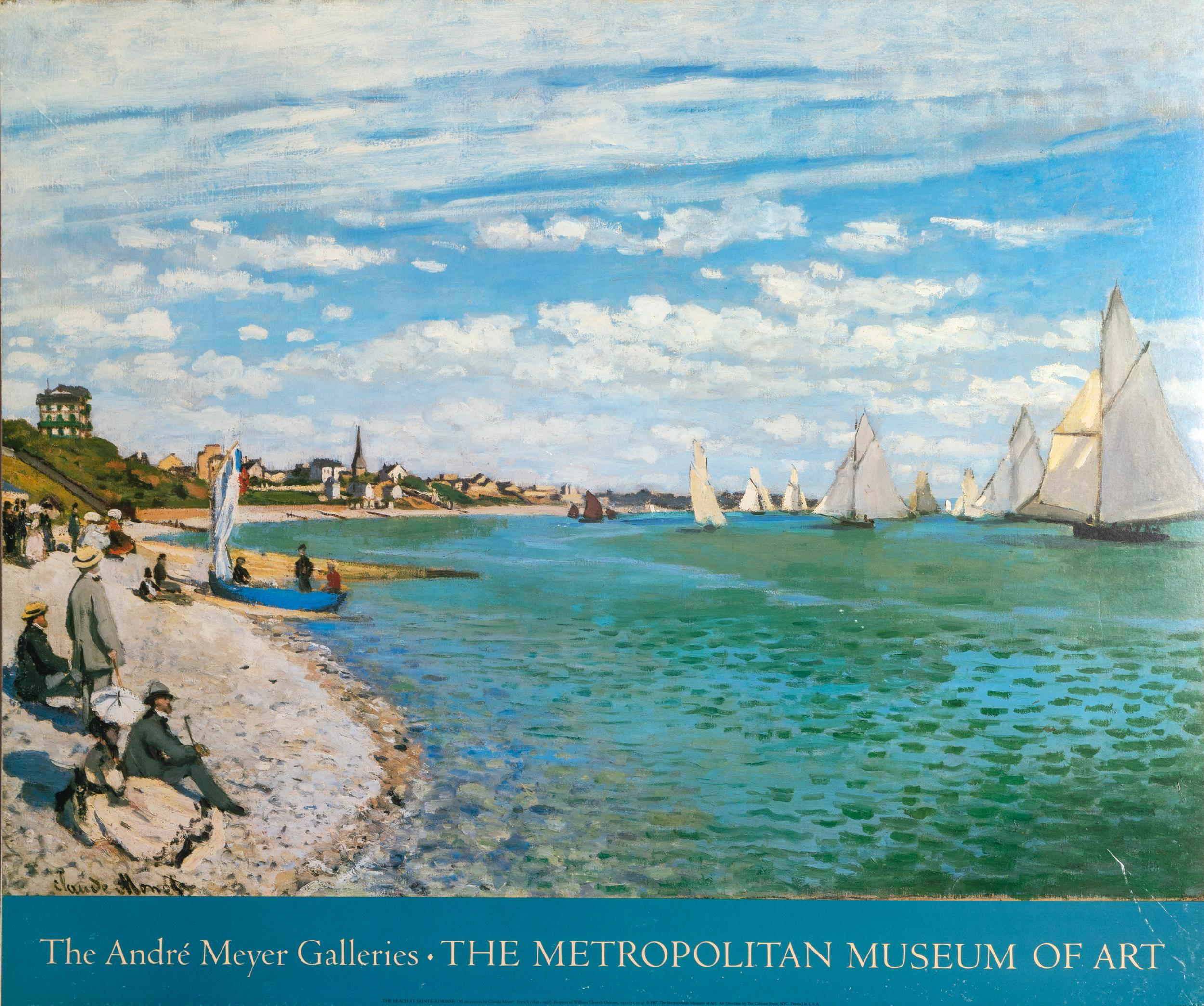 Claude Monet, Andre Meyer Galleries - The Beach at Sainte-Adresse, Poster on foamcore