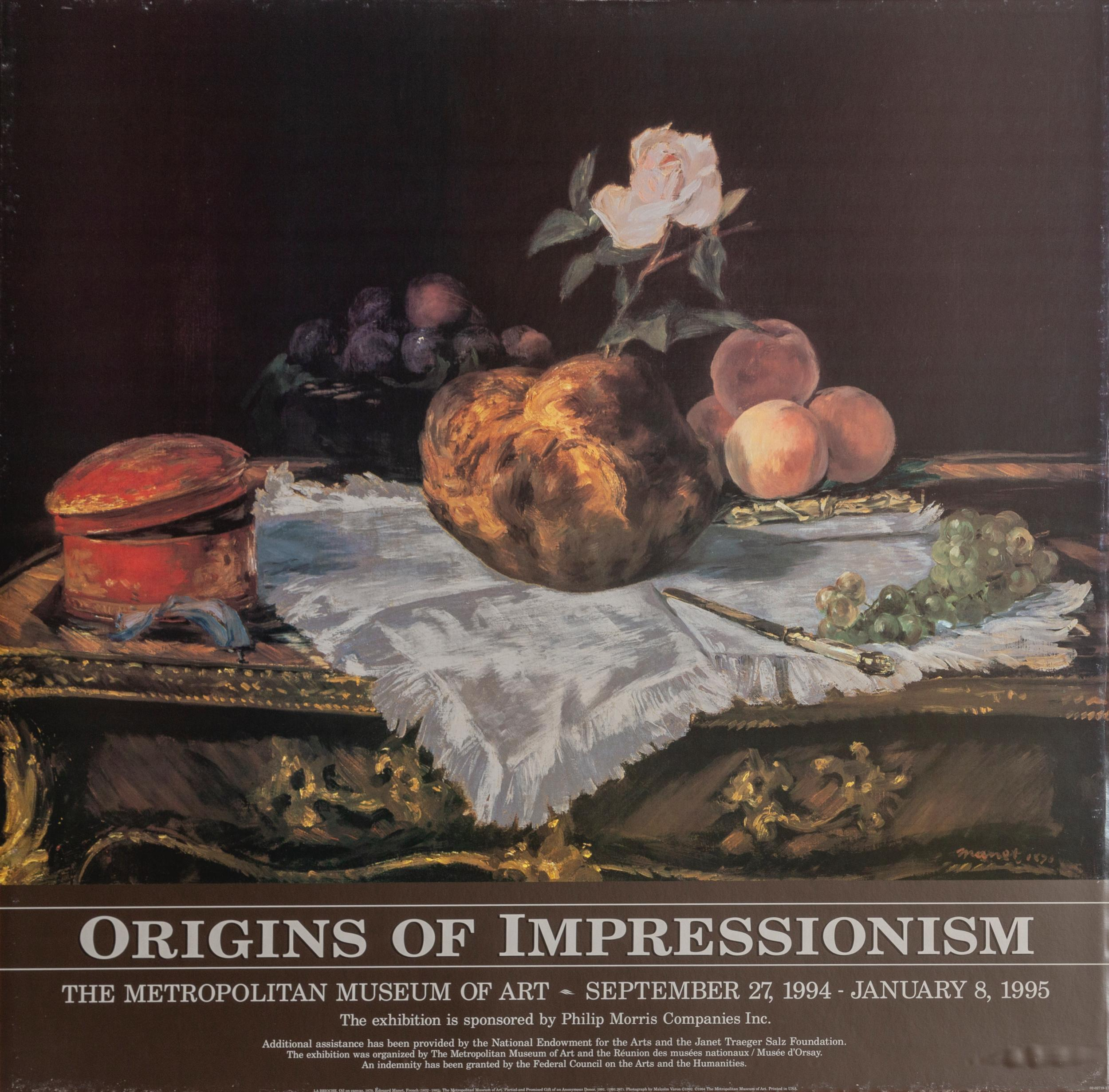 Edouard Manet, Origins of Impressionism, Poster on board