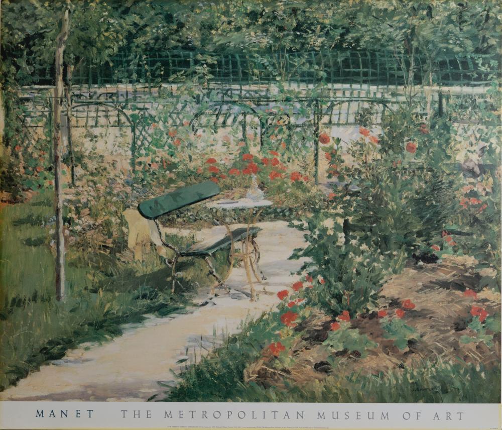 Edouard Manet, The Artist's Garden, Poster on foamcore