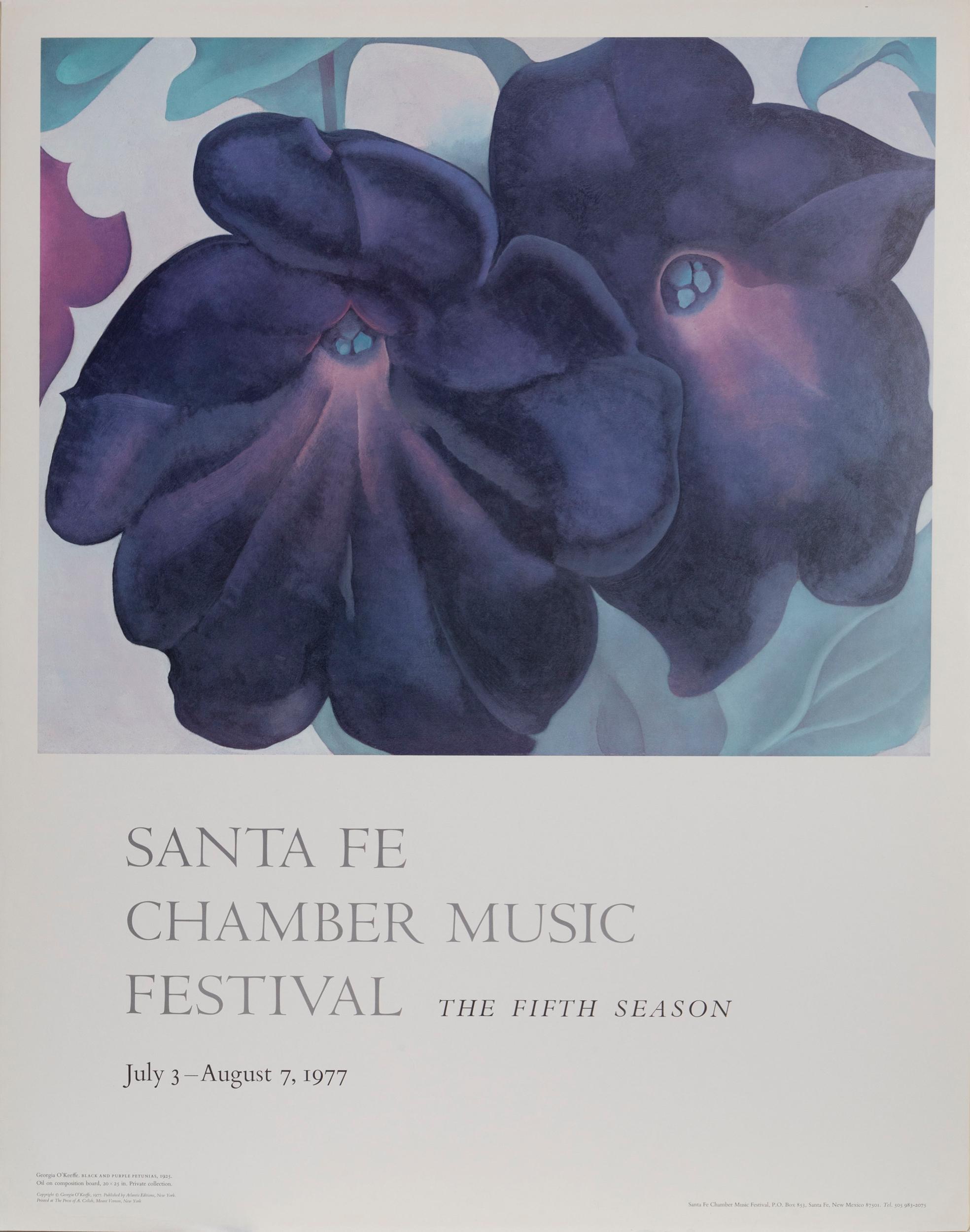 Georgia O'Keeffe, Black and Purple Petunias, Poster on foamcore