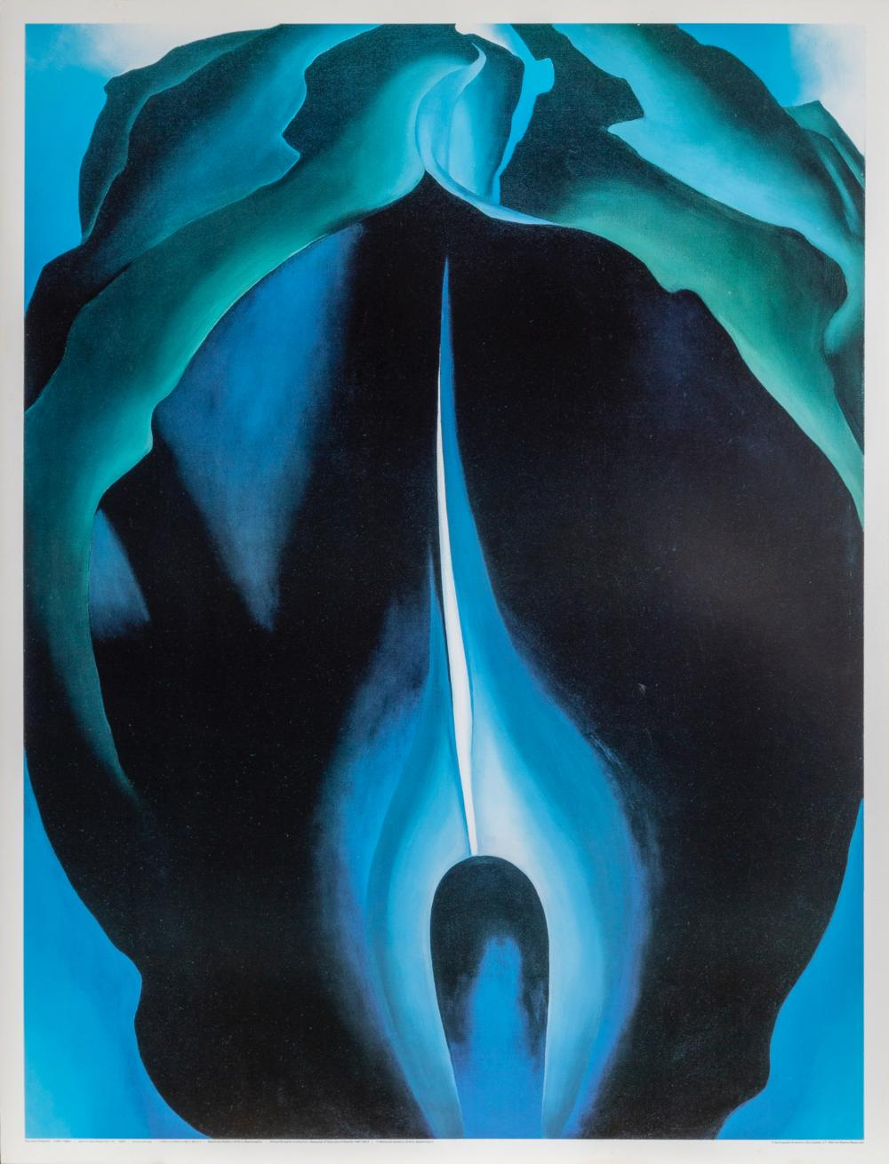 Georgia O'Keeffe, Jack-in-the-Pulpit N.IV, Poster on board