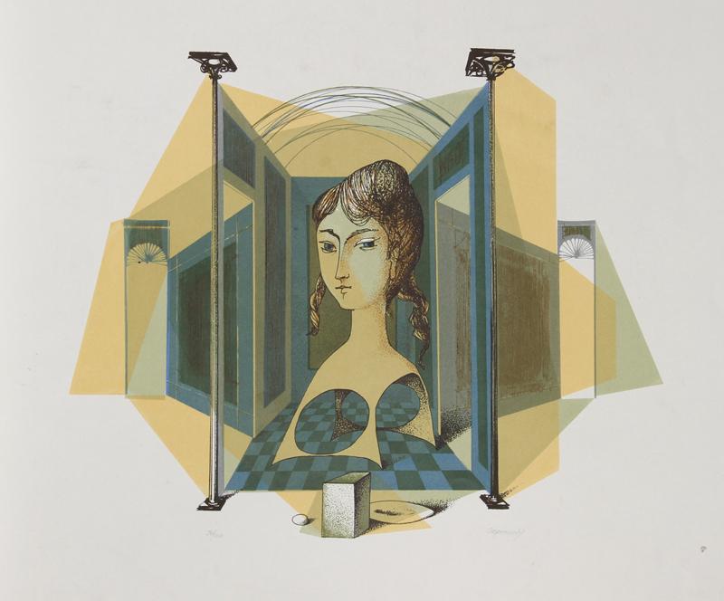 Glauco Capozzoli, Portrait in Interior, Serigraph
