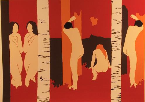 Daphne Mumford, Autumn I, Serigraph