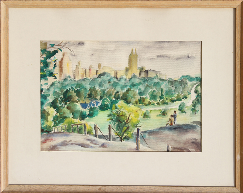 Eve Nethercott, Central Park, Watercolor