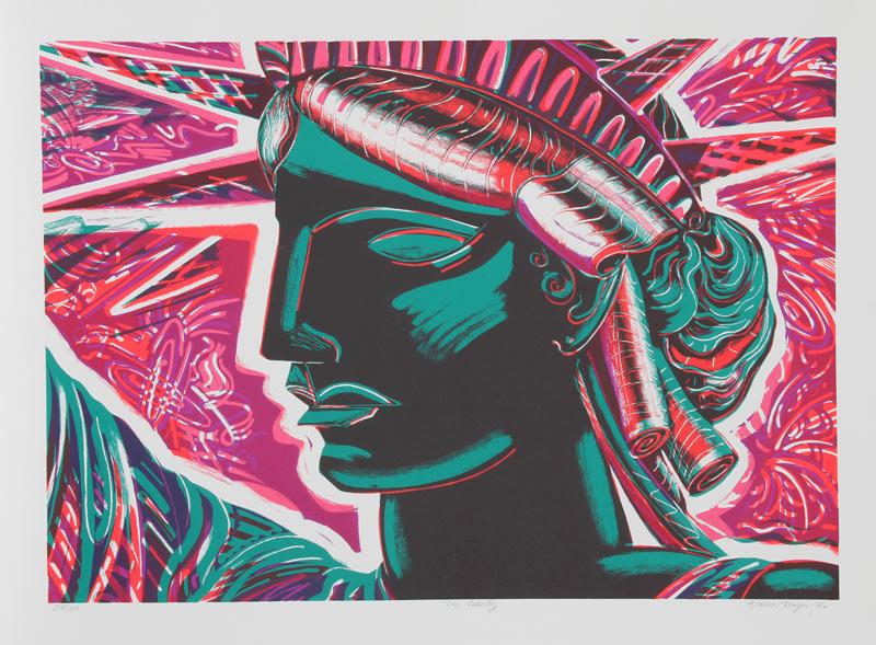 Frances Myers, Ms. Liberty, Silkscreen